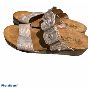 Naot Ashley leather double strap sandals 9